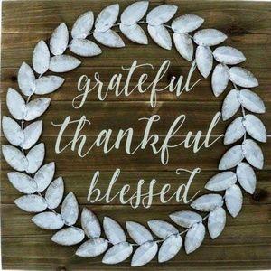 Pillow Cover-New-Christian Thankful Grateful Bless